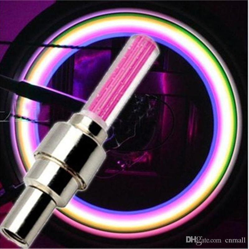 LED Flash Light Lights Roue De Pneu Tire Valve De Roue Cap Lamo Vélo Vélo Moto Voiture Roue De Pneu En Aluminium Matériel LED Lumière De Voiture