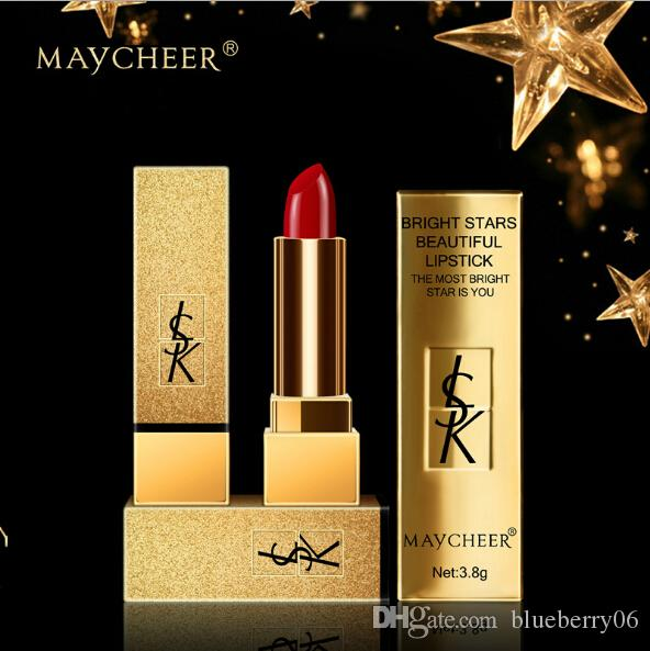 Wholesale new arrival 6pcs of makeup maycheer Stars lipstick bite lips moisturizing skin lasting moist colorful