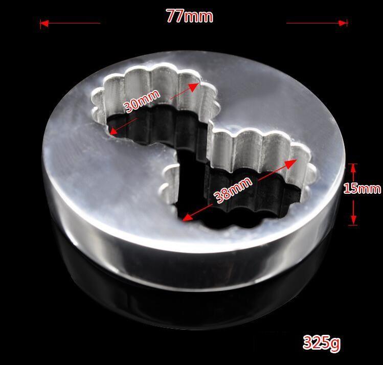 새로운 BDSM 섹스 장난감 스테인레스 스틸 자극 속박 짜기 음낭 고환 음경 펜던트 공 들것 콕을 cockring 개 노예 도구 A288