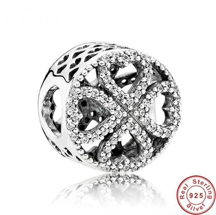 2017 Forme ronde Nouvelle Sterling 925 Fashion Bijoux Faire bricolage Nama Perle pour CZ Compatible avec pour Pandora Charms Bracelet Love Love