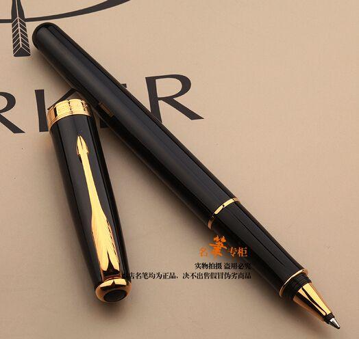 Spedizione gratuita Nero rullo penna inchiostro ricarica 0.5mm firma penna a sfera penna regalo scrittura penna scuola ufficio fornitori articoli cancelleria