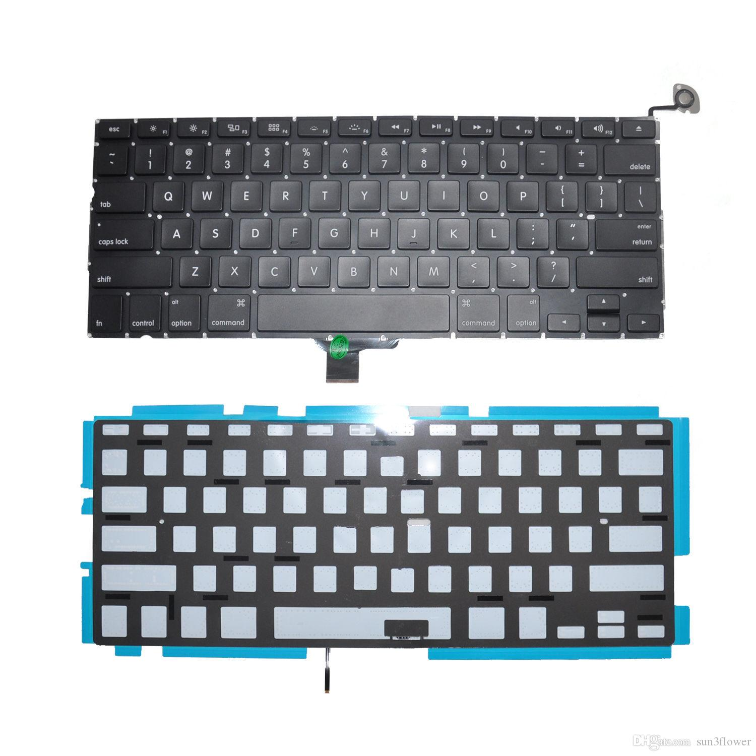 NOVO Ajuste para Macbook Pro Unibody A1278 13 '' Preto EUA Layout Keyboard com Backlight