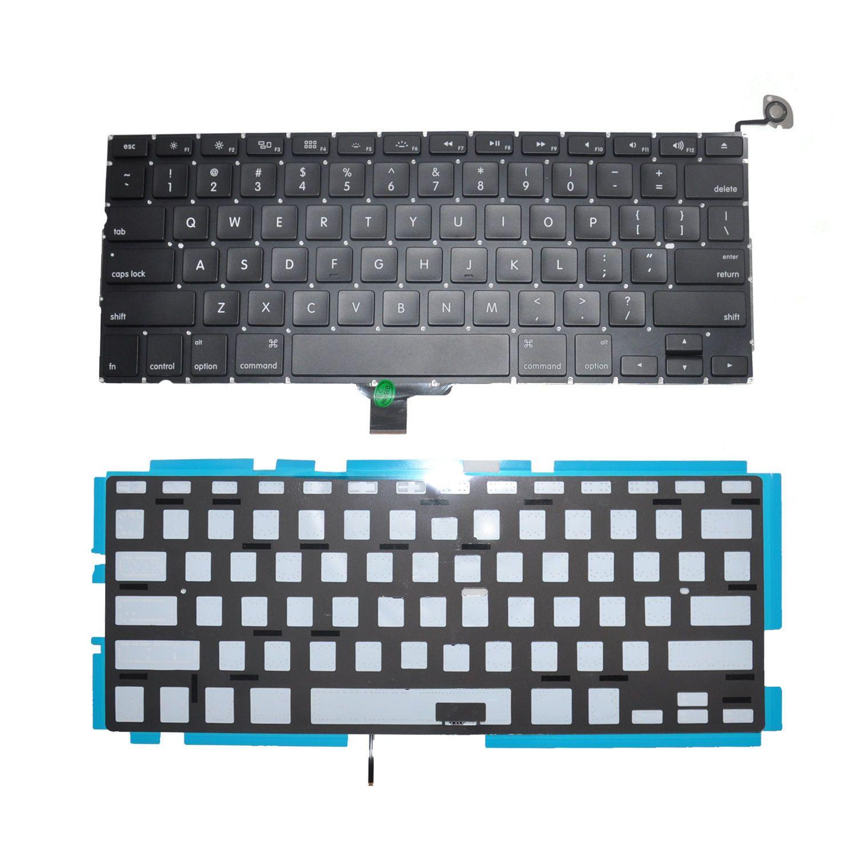 NOVO Ajuste para Macbook Pro Unibody A1278 13 '' Preto EUA Layout Keyboard com Backlight