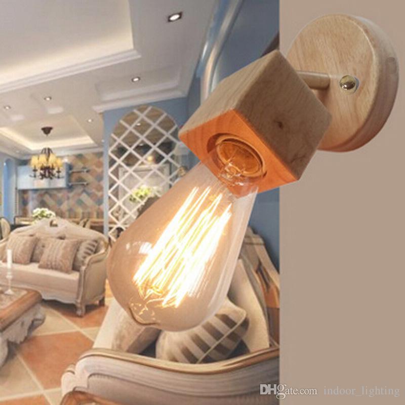 10 teile / los Moderne Beleuchtung Holz Wandleuchte Schlafzimmer küche Spiegel Licht Schrank Luminaria Lamparas Esszimmer Restaurant Wandleuchte