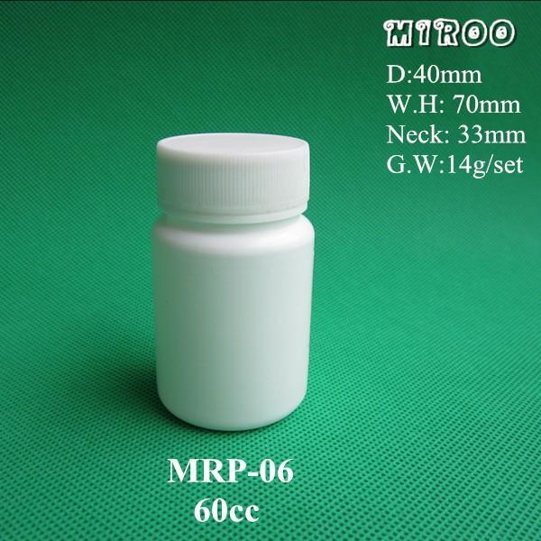 60cc Pill Bottle dimension