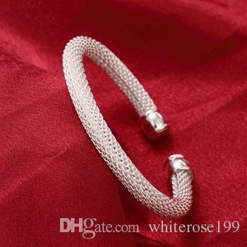 Wholesale - Retail lowest price Christmas gift, free shipping, new 925 silver fashion Bracelet B040
