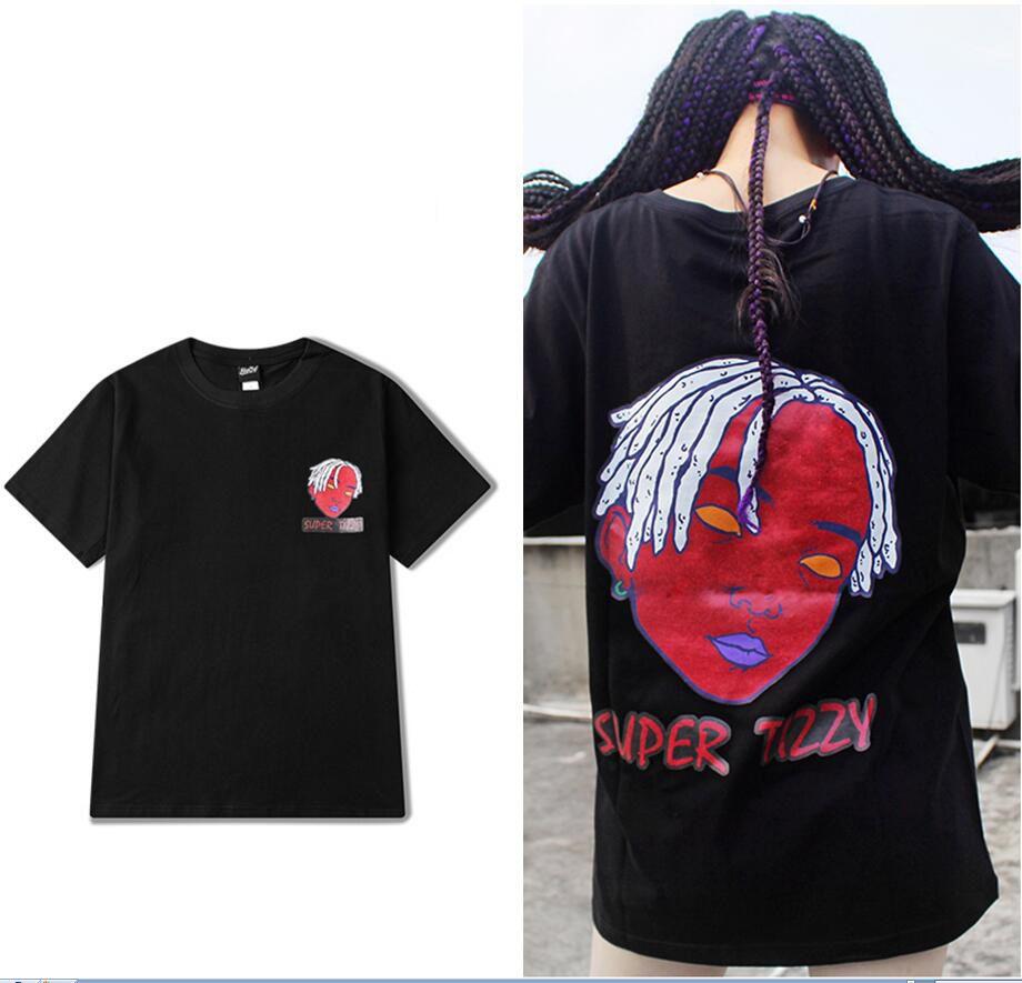 Conception originale été nouveaux hommes femmes t-shirt haute rue marée marque jeune étudiant à manches courtes amant t-shirt tshirt noir blanc