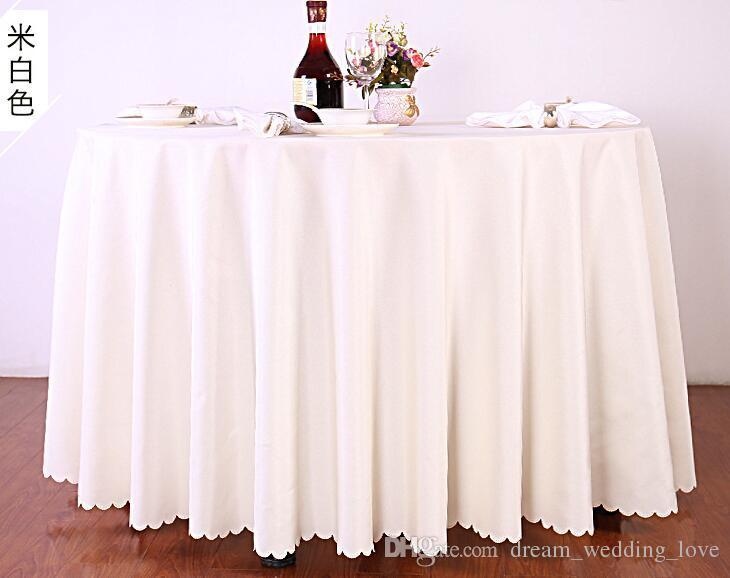 rotonda Table Cover panno di tabella per le tabelle banchetto di nozze della decorazione del partito del tessuto del raso Tabella Abbigliamento nozze Tovaglia Home Textile WT045