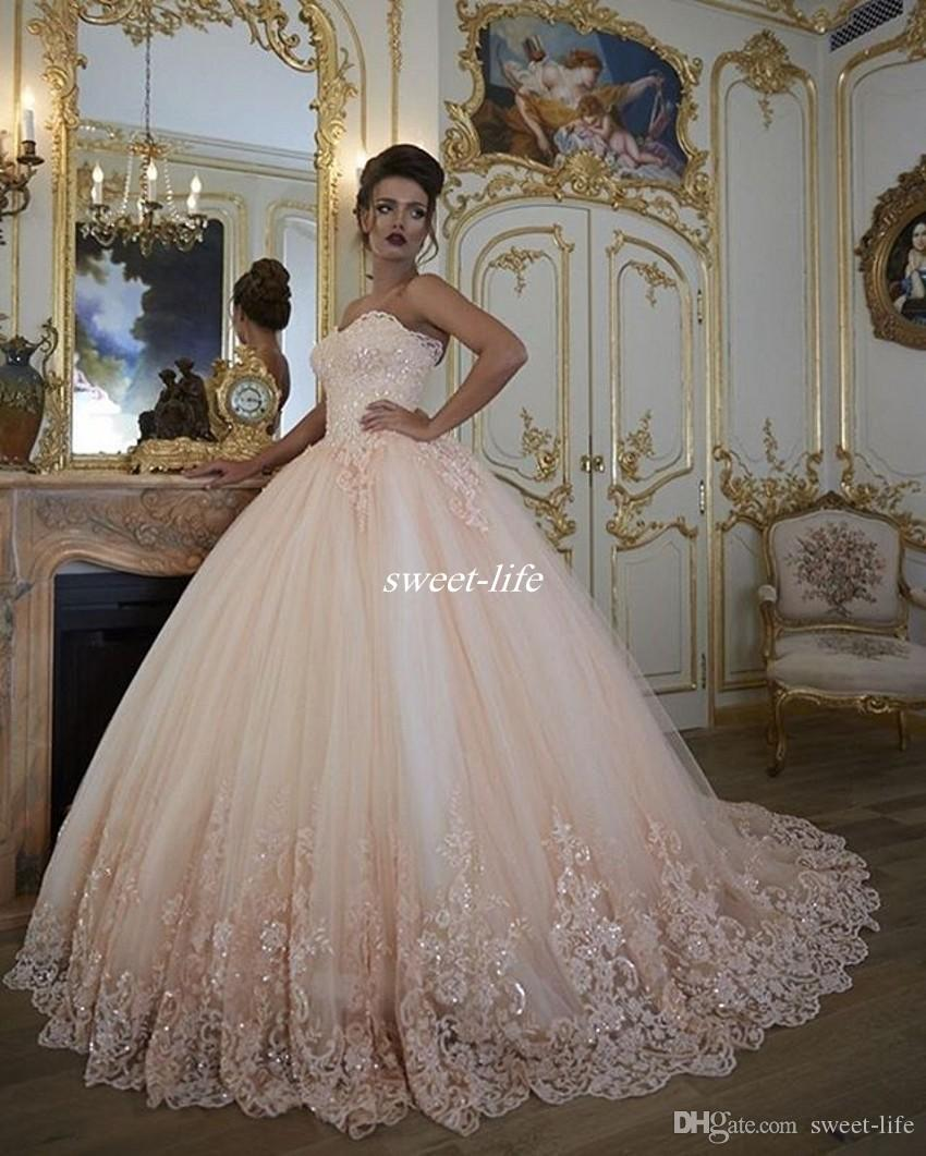 Vintage Wedding Dresses Bridal Gowns Lace Tulle Sweetheart ...