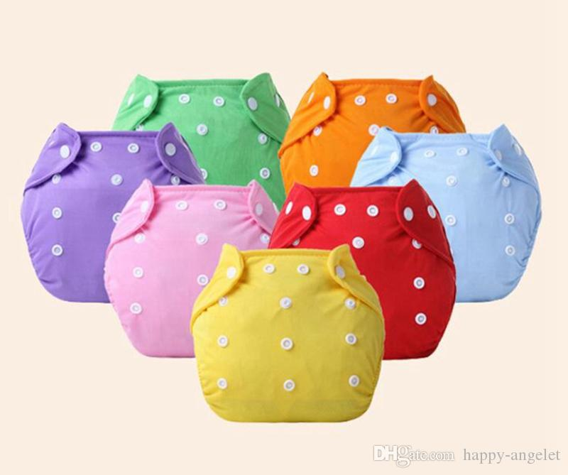 100pcs Baby Cotton water proof Soft Diaper Nappies Cover Reusable Washable Size Adjustable spring summer winter button Diapers YTNK001