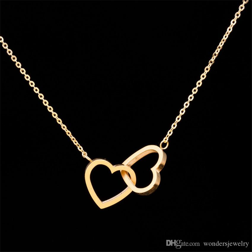 Wholesale Wholesale Fashion Stainless Steel Jewelry Pendant Double