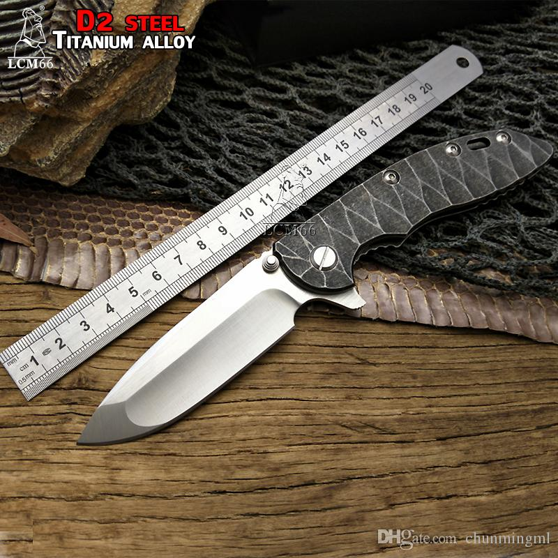 """WILD BOAR""""HINDERER""""XM-18 Custom made S35VN Blade Titanium Alloy Handle Folding Knife Outdoor camping hunting Knives Microtechnology tool"""