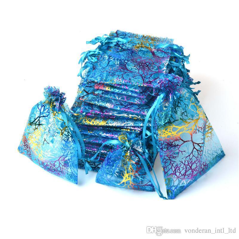 الرباط اورجانزا أكياس هدية التفاف لون حقيبة هدية الحقيبة مجوهرات الحقيبة الأورجانزا كيس أكياس الحلوى حزمة حقيبة مزيج