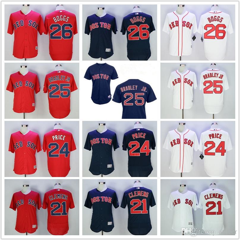 detailing 2abf7 e70d3 2019 2017 Men'S Boston Red Sox Jersey MLB Cheap 21 Roger Clemens 26 Wade  Boggs 24 David Price Navy Gray Red White Flex Base Jersey From Anseer, ...