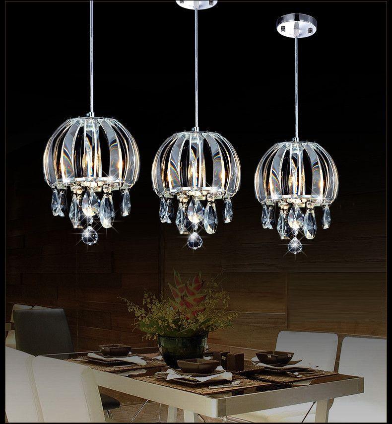 lampada a sospensione cavo tre luci lampade a sospensione in cristallo sala da pranzo Lampada a sospensione moderna lineare per cucina da camera da letto a led studio luci ufficio