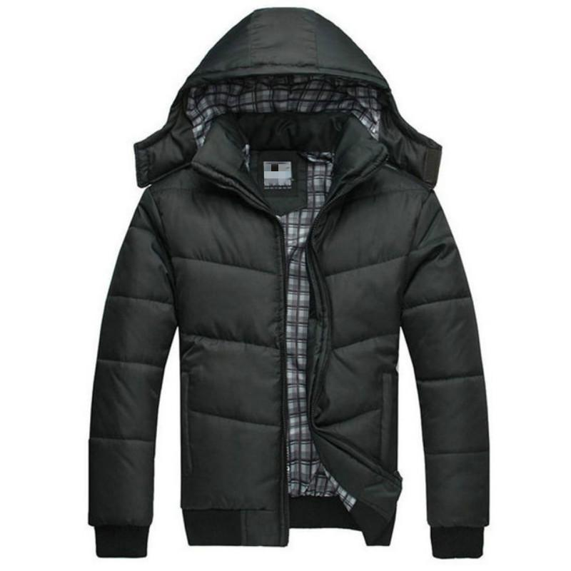 Veste d'hiver épais Maintien au chaud Relaxation thermique Rib manteau à manches longues Parka à capuche amovible homme plein air Vestes Parka