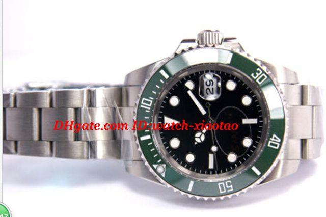 Neue hochwertige Luxusuhren Sapphire Ceramic Green Bezel Dial 16610 116610LV Automatic Herrenuhr Uhren