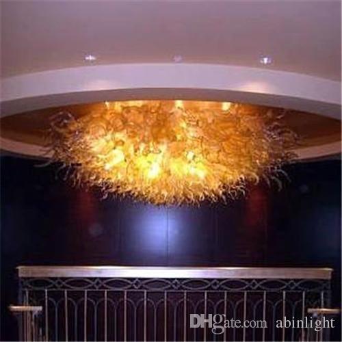 Soffitto decorativo fatto a mano Blown LED Lampadari Lampadari illuminazione Hotel Lobby Decor Style Murano Modern Art Glass Chandelier