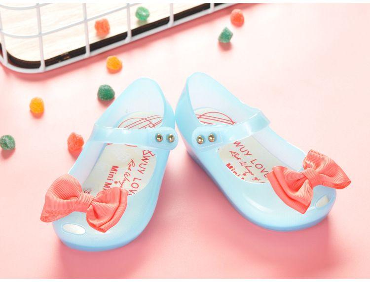 Melissa Shoes Girls Sandals Led Lighting Soft Jelly Girls