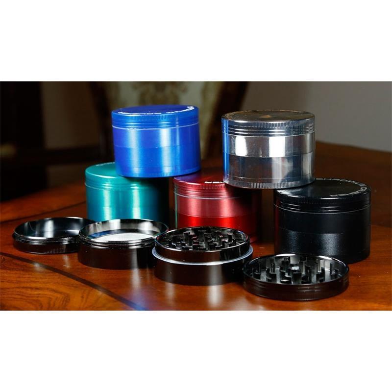 Tütün Herb Kırıcı Öğütücü Zink 75mm ile 4 Parça KROM KIRICI Tasarım Müşteriler 5919C için 6 Renkler