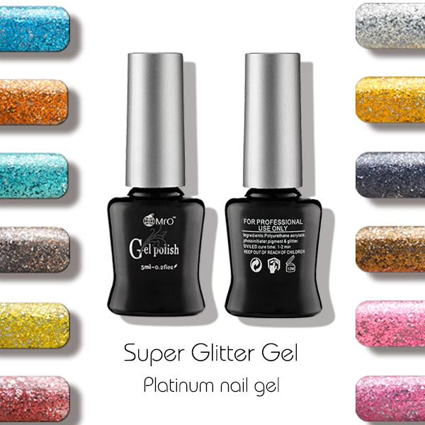 Wholesale 2016 New Mro Super Glitter Uv Gel Nail Polish Gel ...