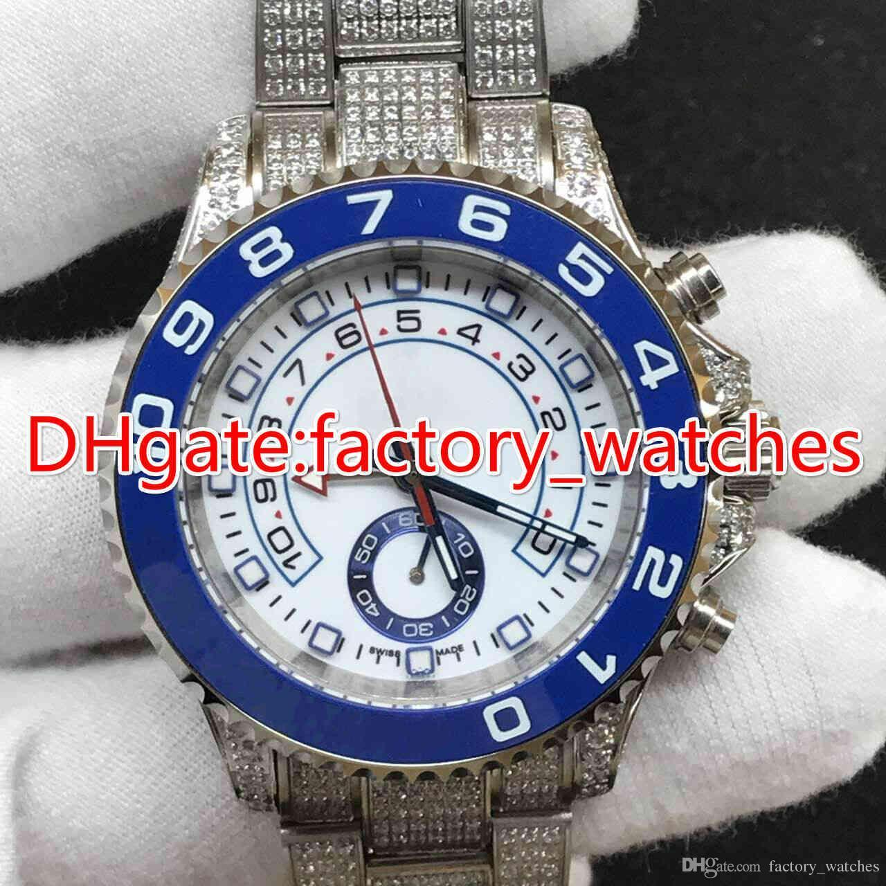 Usine en gros de haute qualité montres Mens 2 II 18 k 40 MM Président Hip hop Or Blanc Diamant Montre