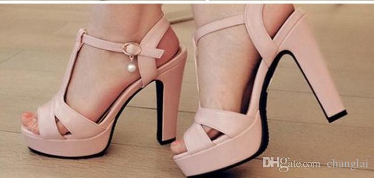 Mit Sommer Sandalen, die wasserdicht Taiwan dick mit hohen weiblichen Sandalen mit größeren Größen kleine Yards FuRuiSource