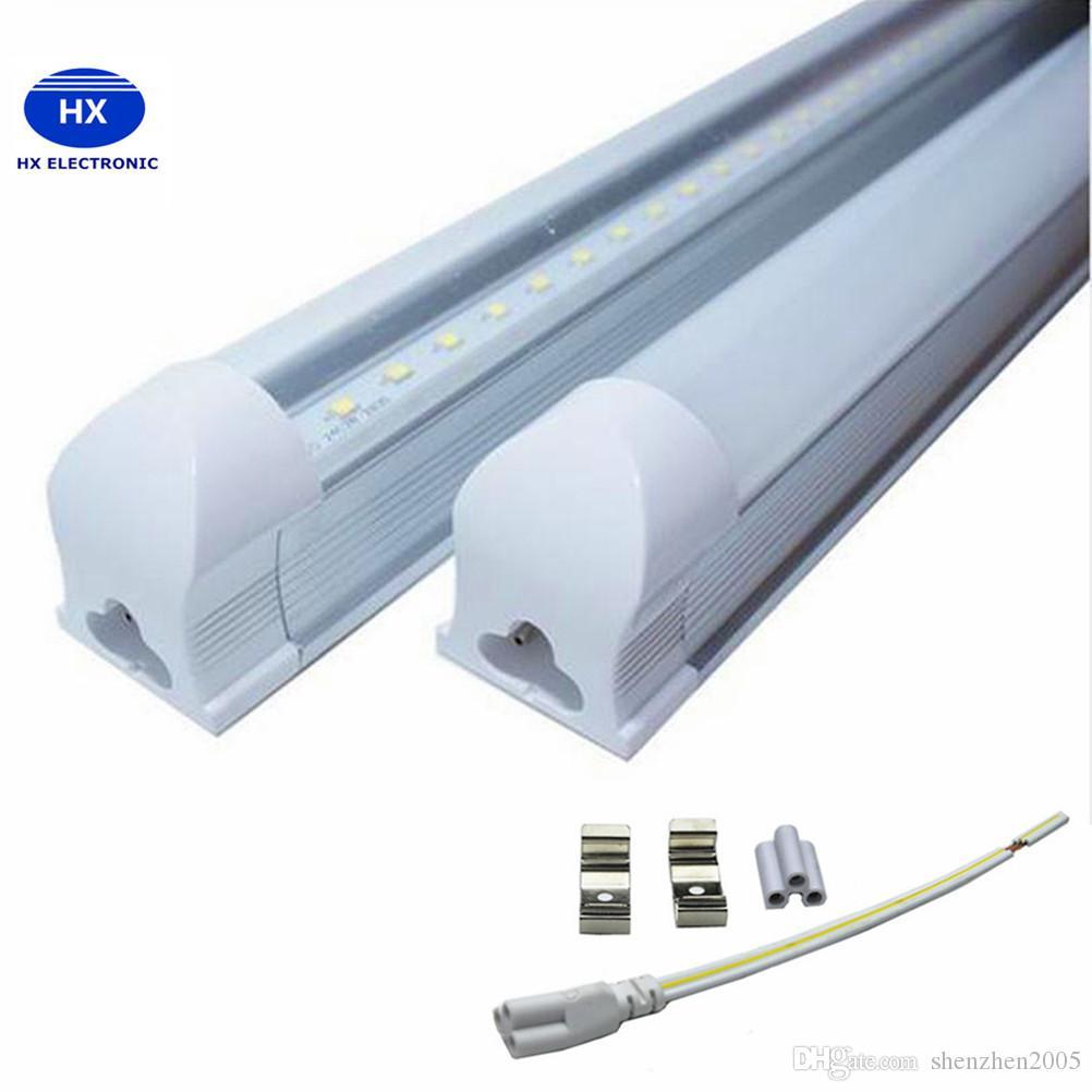 2020 beste Produkt Integrated T8 LED-Röhre 4FT 22W SMD 2835 Röhren-Licht-Lampe 1.2M 85-265V Birne Leuchtstofflampen geführt