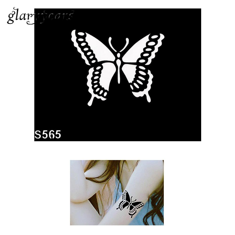 Wholesale Cool Small Indian Henna Tattoo Stencil Diy Health Women Body Art Butterfly Design Henna Tattoo Stencil Sexy Product S565 Cheap Airbrush