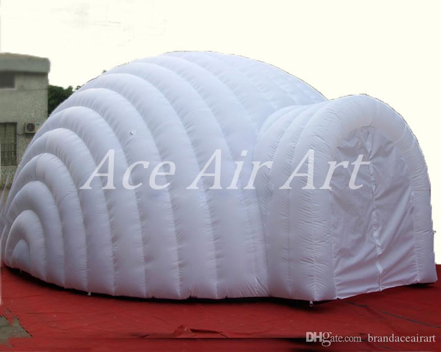 Beautiful Fresh Air Portable Giant White Round Inflatable Dome Tent in 6 Diameter for meeting or rentable