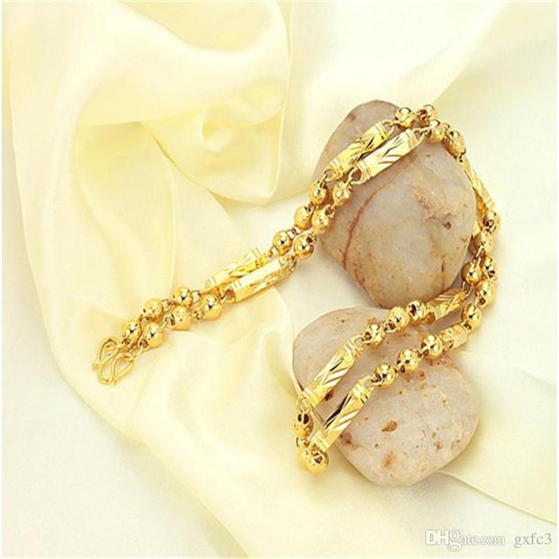 Männer müssen eine stilvolle und elegante vergoldete Halskette Ketten Halsketten Figaro Chain haben