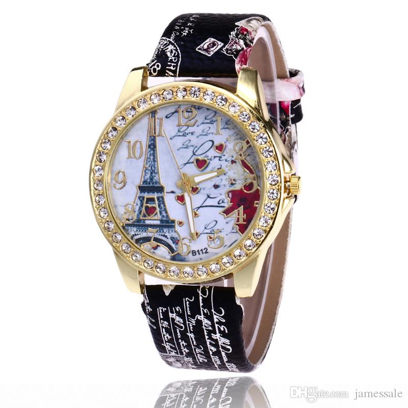 Wholesale Price Fashion Style Set Auger Paris Eiffel Tower Watch Fashion Digital Belt Ladies Watch Printed Watches To Buy Buy Online Watches From Jamessale 2 05 Dhgate Com