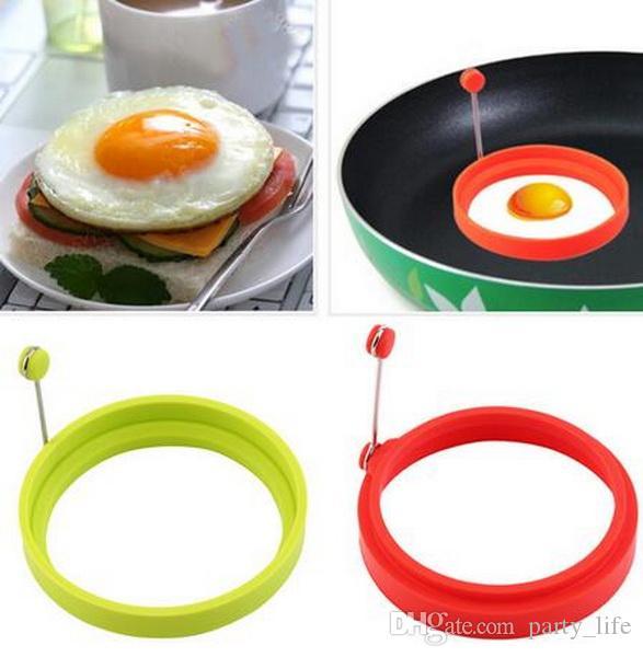Großhandel, 50pcs / lot kreative runde Form-Silikon-Omelett-Former-Ei briet das Braten des Pfannkuchens, der Form kocht, freies Verschiffen.