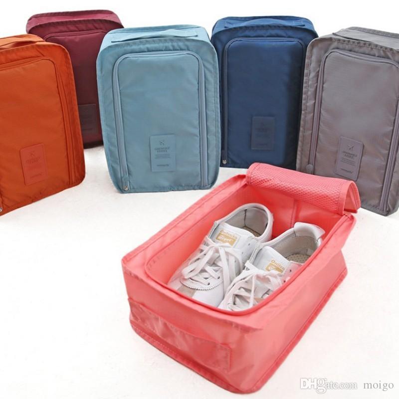 2017 Conveniente Bolsa de Almacenamiento de Viaje Bolsas de Nylon para Zapatos Maleta de Viaje Bolsa de Bolsas Portátil Bolsa de Almacenamiento A Prueba de agua Organizador