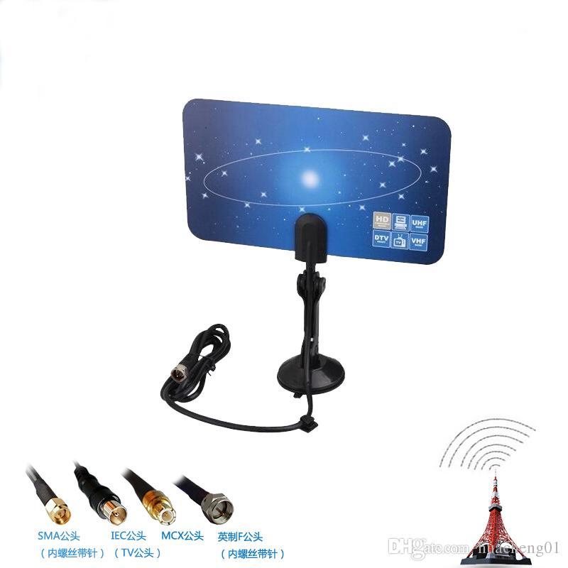 Antenna TV digitale per interno HDTV DTV HD VHF UHF Design piatto High Gain US / EU Plug Nuovo ricevitore TV Antenna di DHL