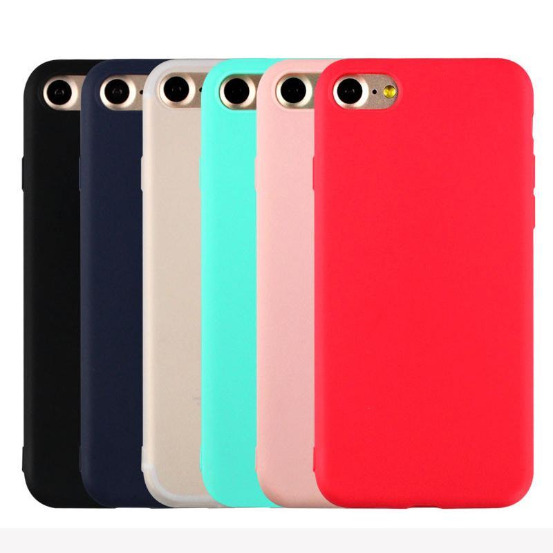 Ventes chaudes Mignon Bonbons Couleurs Souple TPU Silicon cas de téléphone pour Apple iPhone 5 5S SE 6 6S 7 Plus De Mode Retour Coque Cas YC1951