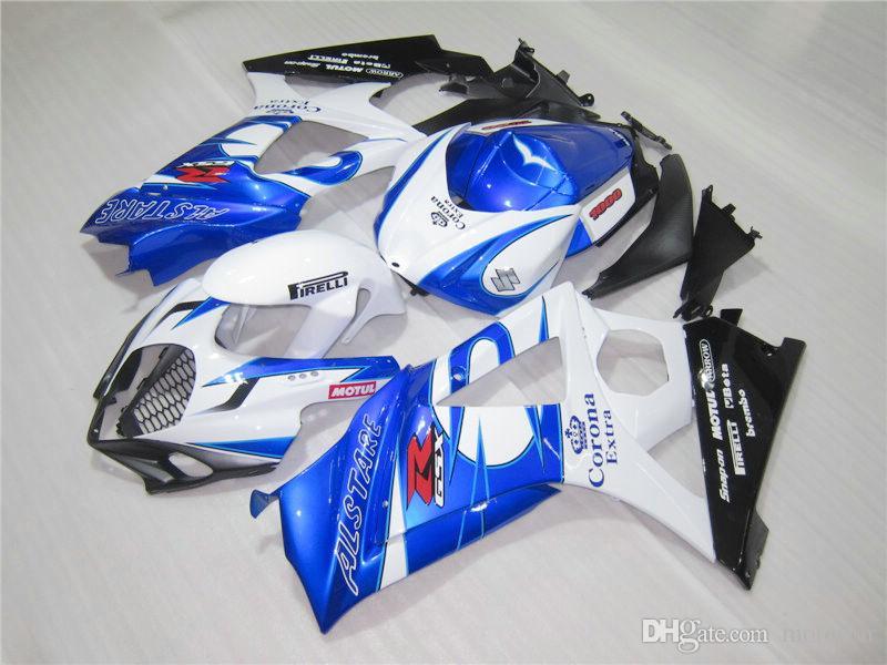 High quality fairings for Suzuki GSXR1000 2005 2006 blue white black injection molded fairing kit GSXR1000 05 06 OT67
