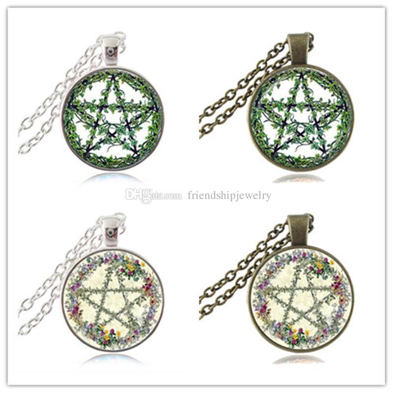Halloween Choker Pentagram Choker~ Pentacle choker-SILVER or BRONZE-Pentagram necklace; Pentagram jewelry; Goth-Wiccan-Occult jewelry-Star