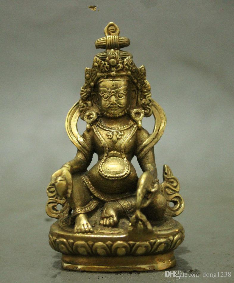 Halk Tibet Pirinç Budizm Servet Tanrı Joss Sarı Jamhala Buda Heykeli