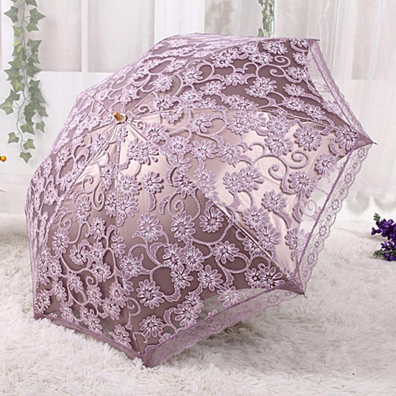 Alto grau de rendas uv h3206 guarda-chuva uv proteção 20 por cento sombrinha