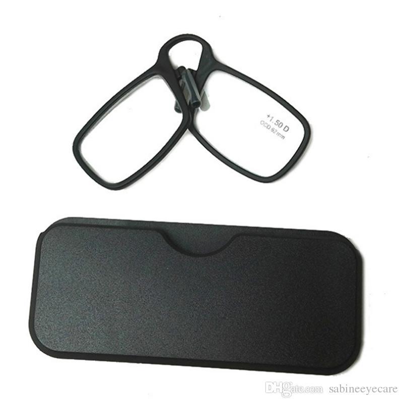 Occhiali da lettura per occhiali da vista con portafogli naso unisex, Custodia per occhiali da lettura con clip Naso TR90 + 1.0 + 1.5 + 2.0 + 2.5 + 3.0 + 3.5