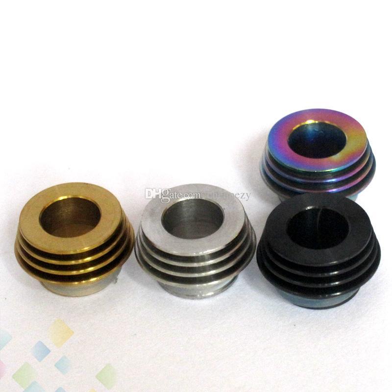 Adattatore da 810 a 510 Drip Tip per TFV8 TFV12 810 Atomizzatore Serbatoio adattatore Adattatore E sigaretta in acciaio inox Materiale DHL Free