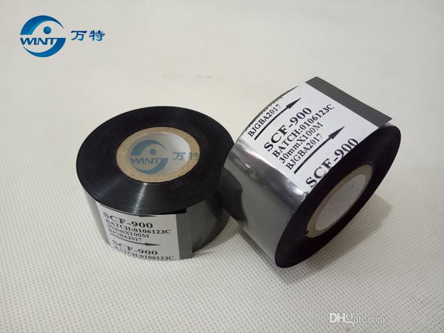 Бесплатная доставка (30 мм*100 м) высокое качество черный цвет ленты для даты печати на дата кодер для EXP, MFG, горячей штамповки ленты печати