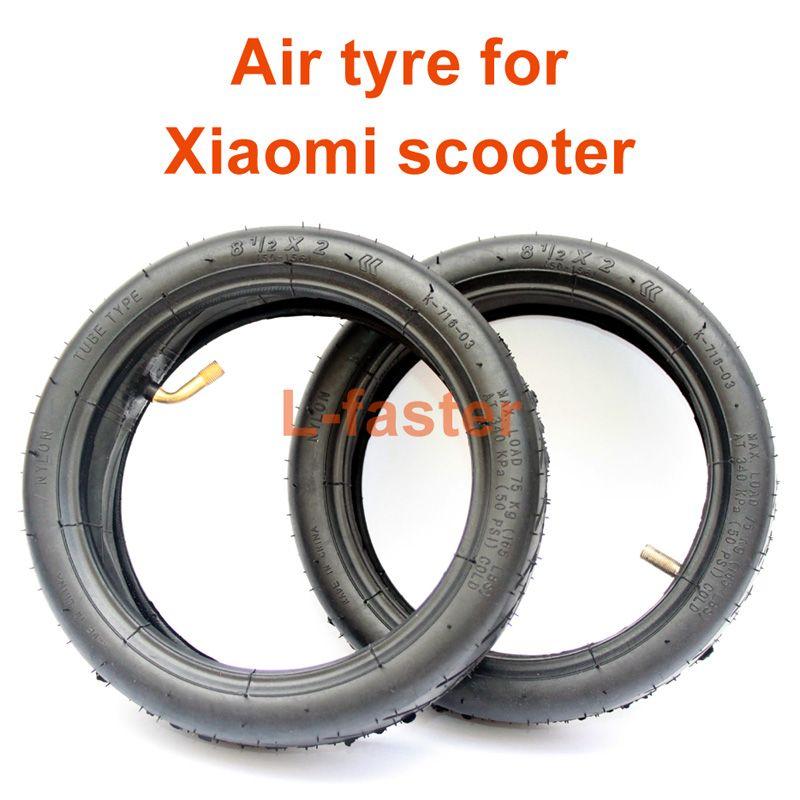 8 1 / 2x 2 에어 타이어 M365 전동 스쿠터 Mijia 스쿠터 교체 타이어 튜브 Xiaomi 8.5x2 팽창 된 스페어 타이어 교체 튜브