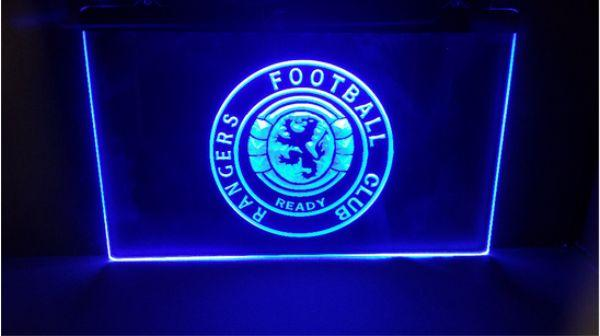fby07 Glasgow Rangers Scotland Club Soccer Sport FC Neon Led Sign Gift man cave