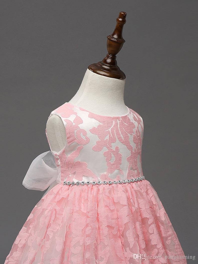 2018 High Quality Unique Baby Frock Design Pink Color Net Baby Girl ...