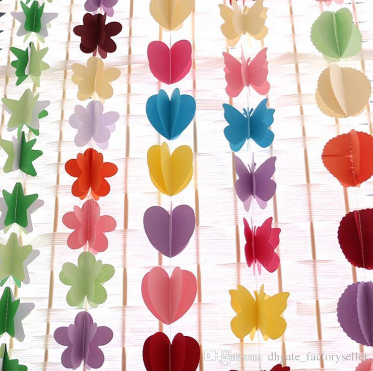 Compre Colgando Flores De Papel Navidad Flores Artificiales Guirnalda Cumpleaños Boda Flores Decorativas Guirnaldas Bebé Ducha Juguete A 338 Del