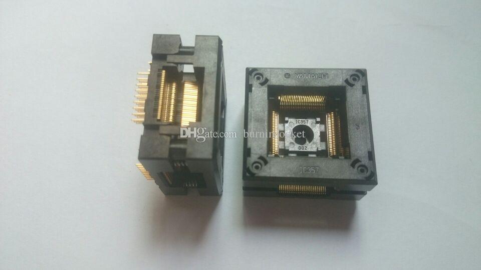 YAMAICHI QFP100PIN PRESA IC TEST IC357-1004-002P 0.5MM pitch DUAL CONTACT BURN IN SOCKET