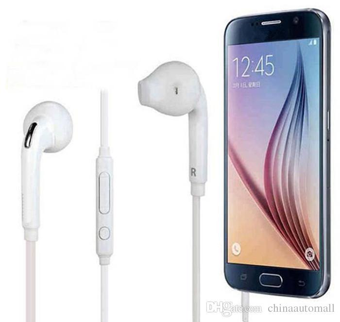 Kopfhörer In-Ear Kopfhörer Headset Weiß 3.5mm mit Mikrofon Bass Earbuds Für Samsung Galaxy S6 S7 mit Kleinkasten