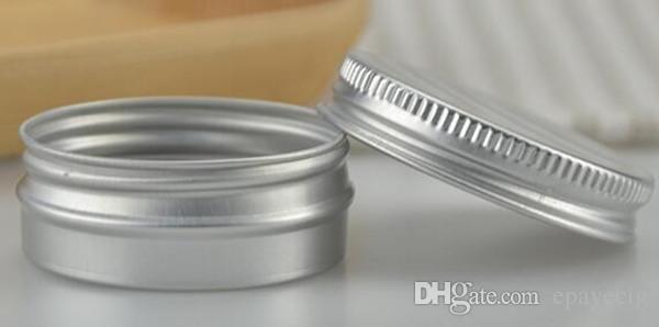 Alüminyum Balsamı Teneke Pot Kavanoz 5g 10g 15g 30g 50g 100g Boş Alüminyum Kozmetik Pot Dudak Balsamı Kavanoz Kalay Konteynerler Vidalı Kapak